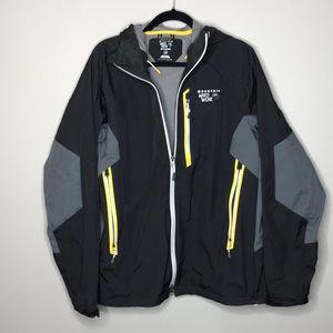 Men's Mountain HardWear black/gray hooded jacket